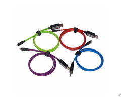 El Visible Micro Usb Flowing Flat Cable Ldf001