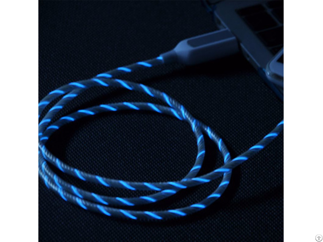 El Visible Light Micro Usb Flowing Round Cable Lr001