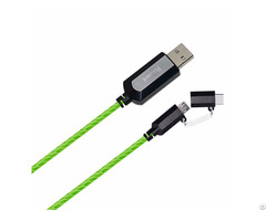 Type C To Micro Usb Flowing Round Cable Ld005