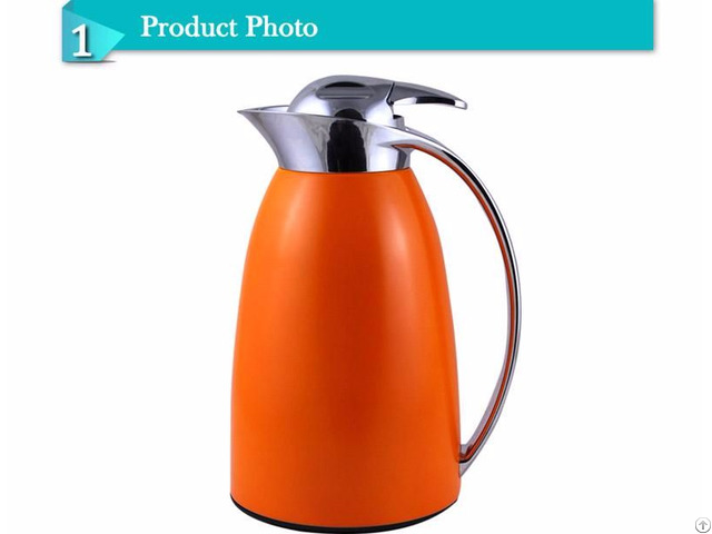 Classic Wonderful Color Painting Glass Inner Vacuum Coffee Jug Thermos Flask