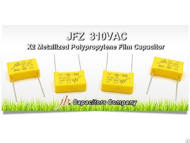 Jfz X2 Metallized Polypropylene Film Capacitor 310vac Features