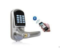 Bluetooth Door Lock Zinc Alloy With Chrome Plating