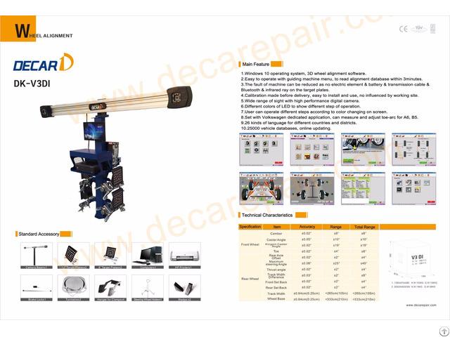 Dk V3di Wheel Alignment Machine Price Garage Equipment