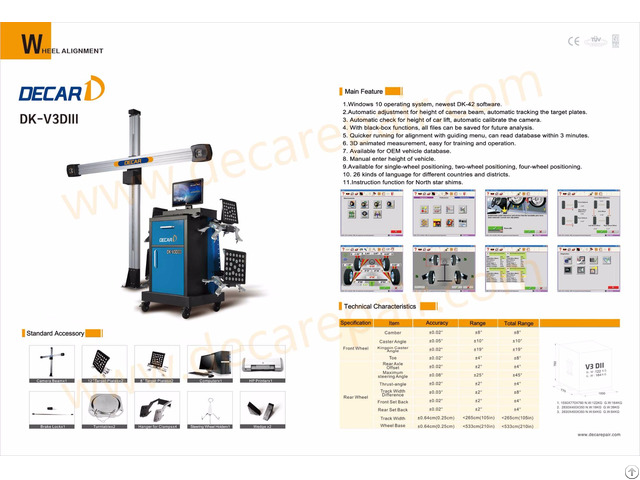 High Performance Visual 3d Four Wheel Alignment With Ce