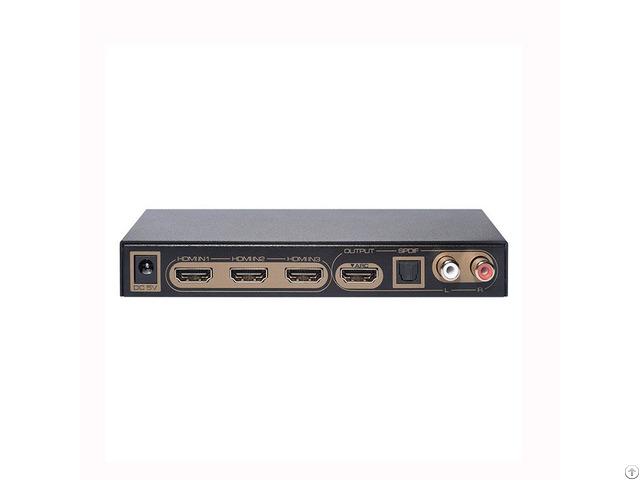 Three Ports Switch Arc Edid Setting Hdmi Audio Extractor