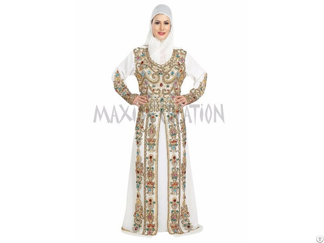 Stylist Royal Wedding Caftan Party Wear Dress For Women By Maxim Creation
