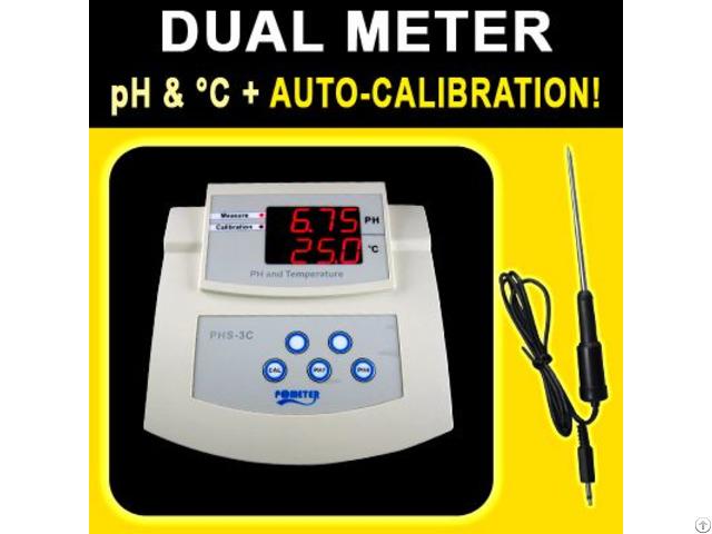 Bench Ph Temperature Meter