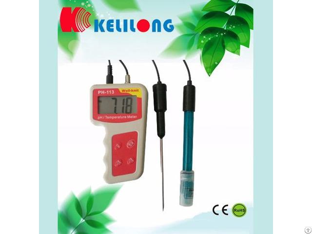 Portable Ph Temperature Meter