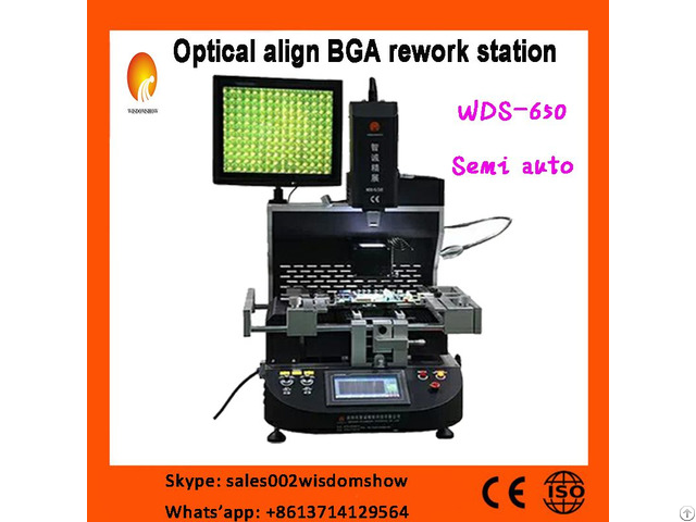 Lead Free Bga Rework Station Wds 650 With Optical Alignment For Laptop Computer