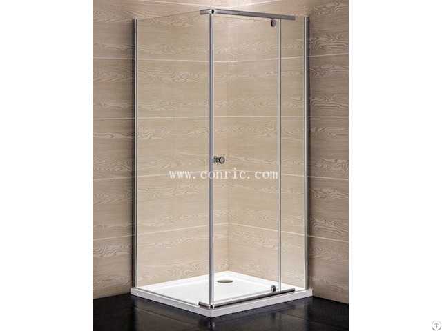 Chrome Aluminum Profile Swing Door Shower Enclosure With 6mm Glass