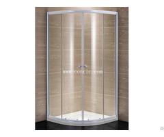 White Aluminum Profile With 5mm Glass Sliding Shower Enclosure