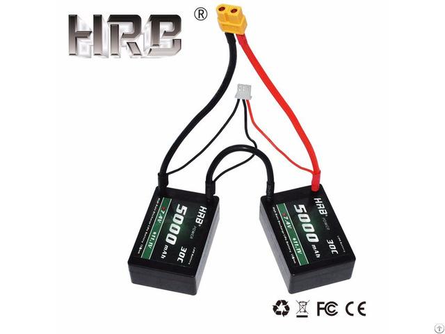 Hrb Rc Car Hard Case 2s 7 4v 5000mah 30c Battery Hardcase Roar B44