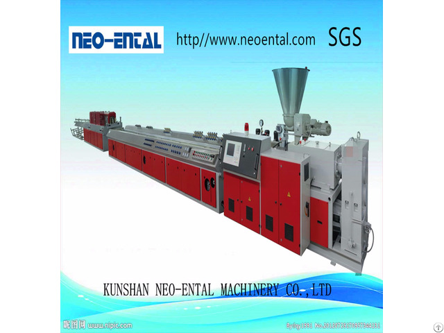 Plastic Pvc Profile Production Line With Conical Twin Screw Extruder