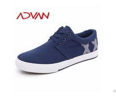 Breathable Man Canvas Lace Up Wholesale Spring New Type Blue Sneakers Men S Casual Shoes