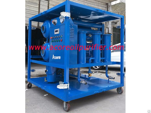High Vacuum Dehydration Plant Of Transformer Oils