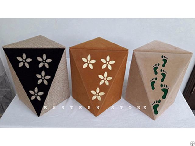 Velvet Urns Ash Jar Funeral Casket