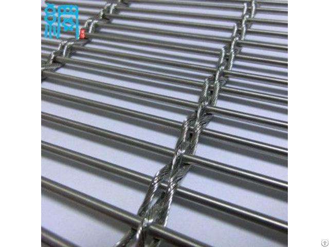 Architectural Woven Metal Wire Mesh Facades Barrette Weave