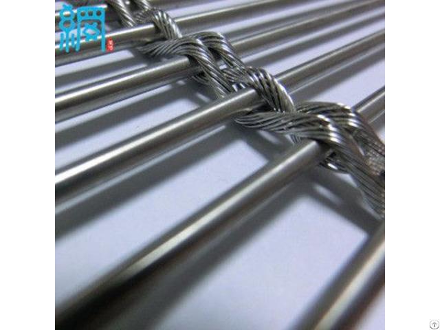 Metal Wire Mesh Cladding Multi Barrette Weave
