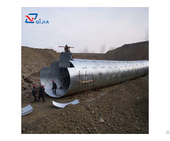 Assembly Corrugated Galvanized Steel Pipe Culvert
