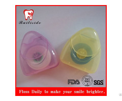 Ptfe Dental Floss With Triangle Shape Container