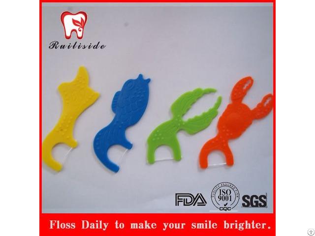 Kids Oral Care Dental Floss Pick