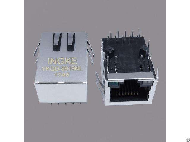 Si 61031 F 10 100 1000 Base T Rj45 Pcb Through Hole Modular Connectors
