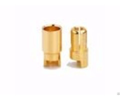 Gold Plated Bullet 6 0mm Connectors From Amass China