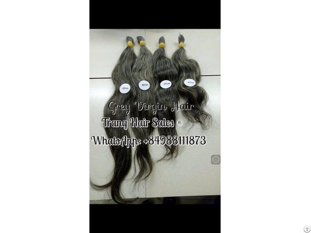 Virgin Grey Hair Wholesale Price Can Bleach