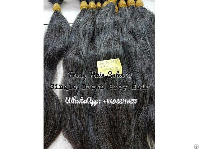 Single Drawn Grey Hair Wholesale Price
