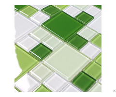 Glass Mosaic Tile Green And White Crystal Backsplash Kitchen Countertop Bathroom Wall Tiles