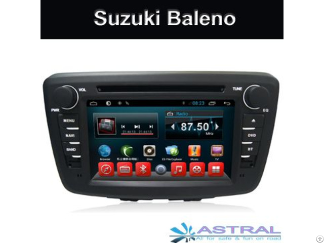 Suzuki Baleno Car Dvd Head Unit Gps Nav Android System Manufacture