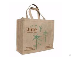 Burlap Jute Shopping Tote Bag