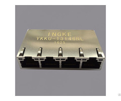 Ingke Ykku 13146nl 100% Cross 0826 1x4t Gh F Rj45 Jacks With Integrated Magnetics