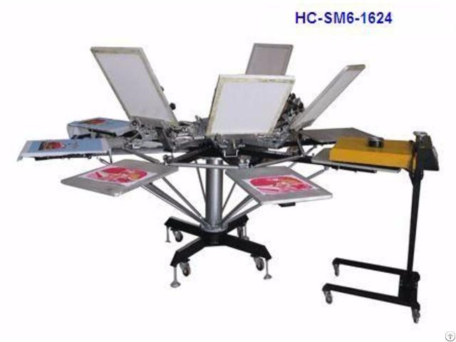 Manual 6 Color Screen Printer T Shirt Printing Machine