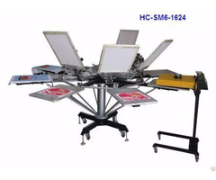 Manual 6 Color Screen Printer T Shirt Printing Machine