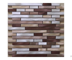 Brushed Aluminum Mosaic Tiles Interlocking Wall Backsplash Tile Kitchen Bathroom
