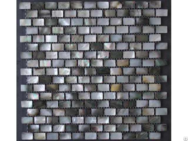Black Lip Seashell Wall Mother Of Pearl Subway Tile Backsplash 3 5