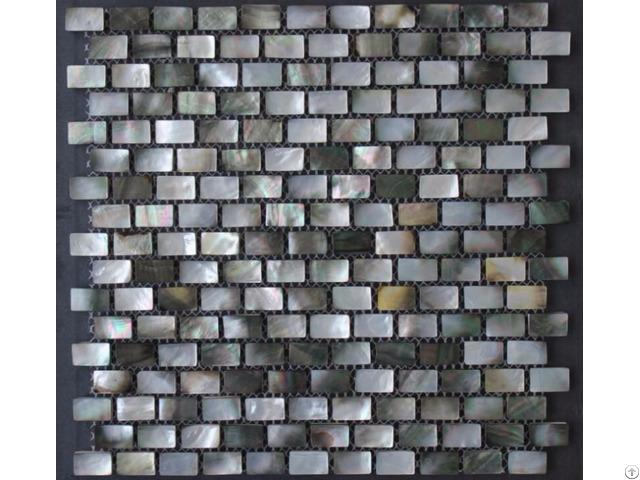 Black Lip Seashell Wall Mother Of Pearl Subway Tile Backsplash 3 5