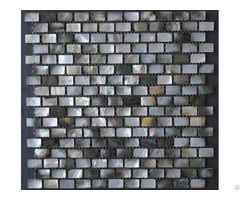 "Black Lip Seashell Wall Mother Of Pearl Subway Tile Backsplash 3 5"" X 1"" Shell Mosaic Tiles"