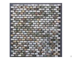 Black Lip Shell Tile Mother Of Pearl Mosaic With Base Subway Tiles Backsplash