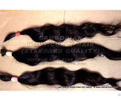 Standard Cambodian Natural Wavy Cury Hair Wholesale Price