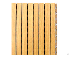 Fire And Sound Absorbing Material Grooved Timber Wooden Acoustic Panels