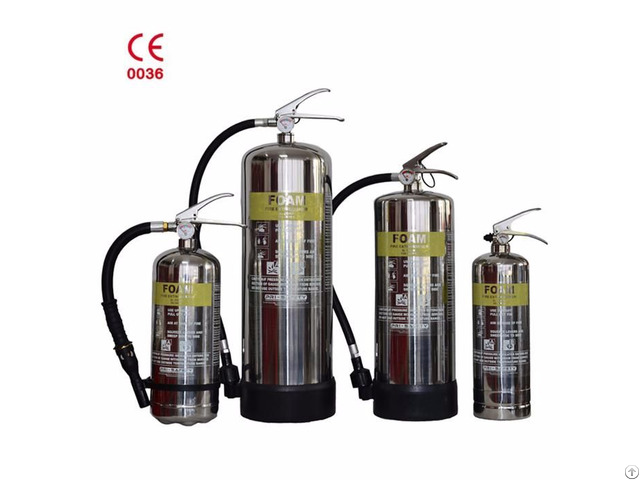 Fighting Equipment Stainless Steel Foam Wheeled Fire Extinguisher