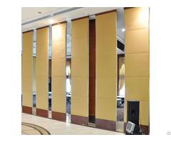 Leather Finished Movable Folding Wooden Partition Walls