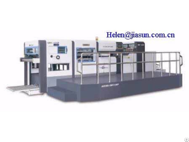 Automatic Die Cutting And Creasing Machine With Stripping Station