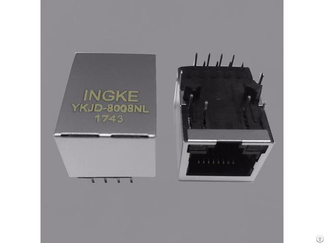 Ingke Ykjd 8008nl 100% Cross 7499010211a Rj45 Jacks With Integrated Magnetics