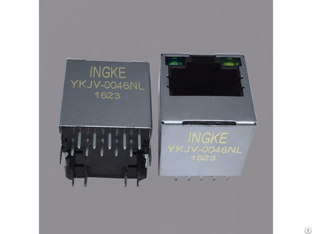 Ingke Ykjv 0046nl 100% Cross Si 46004 F Through Hole Rj45 Magnetic Jack