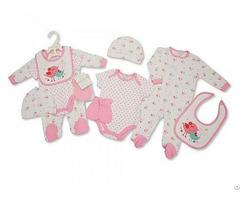 Baby Mädchen Baumwoll Geschenkset 5tlg Vögelchen