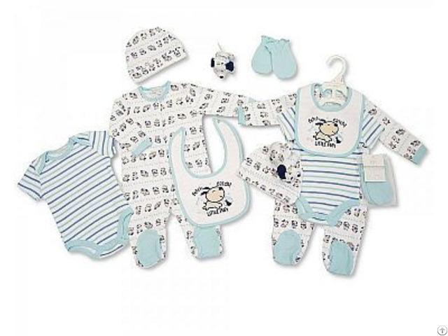 Baby Jungen Baumwoll Geschenkset 6 Tlg Hündchen