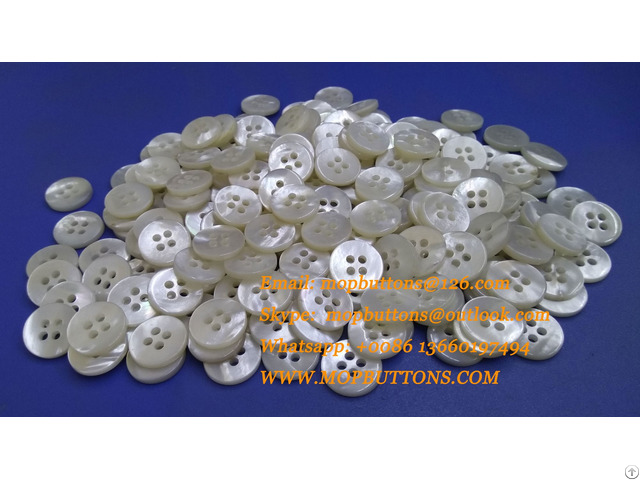 Bulk Custom Flatboack 4 Holes Natural White Mother Of Pearl Shirt Button Www Mopbuttons Com